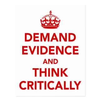 Demand Evidence and Think Critically Postcard