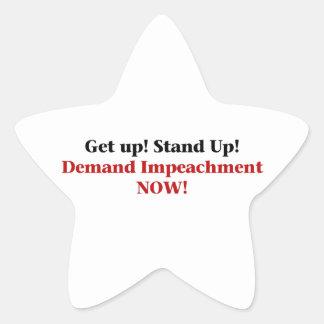 Demand Impeachment Now Star Sticker