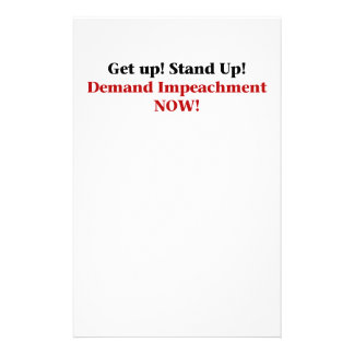 Demand Impeachment Now Stationery
