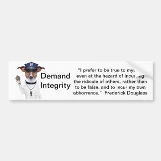 Demand Integrity  bumber sticker