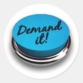 Demand It Classic Round Sticker