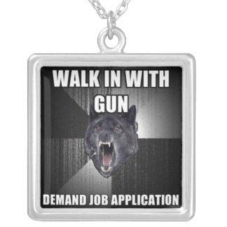 Demand Job Application Necklace