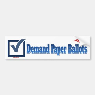 Demand Paper Ballots Bumper Sticker