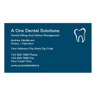 Demandas médicas dentales de la facturación tarjetas de visita