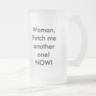 Demanding Frosted Glass Mug