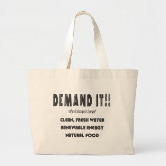 demandit2 large tote bag