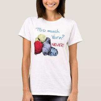 Demasiada camiseta del hilado