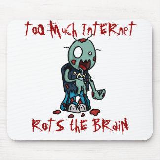 Demasiada estera del ratón del Internet Alfombrillas De Ratones