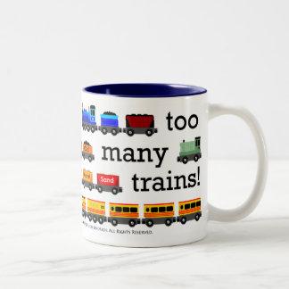 Demasiada taza de los trenes
