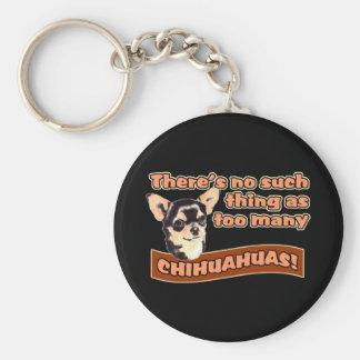 Demasiadas chihuahuas llaveros personalizados