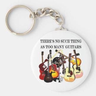 Demasiadas guitarras llavero redondo tipo pin