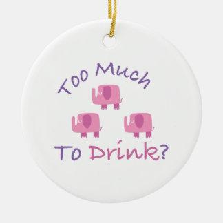 ¿Demasiado a beber? Adorno Redondo De Cerámica