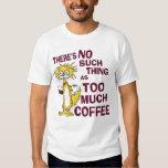 Demasiado café remeras