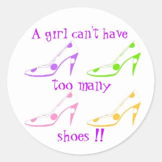 Demasiado calza al pegatina femenino del fashionis