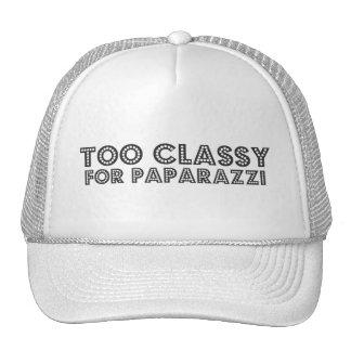 Demasiado con clase para los paparazzis gorras de camionero
