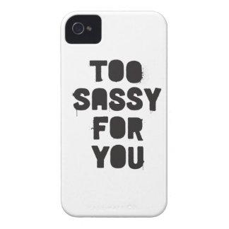 Demasiado descarado para usted Case-Mate iPhone 4 fundas