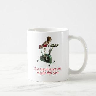 Demasiado ejercicio tazas de café