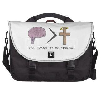 Demasiado elegante ser católico bolsas de portátil