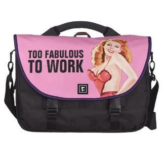 Demasiado fabuloso trabajar - el bolso del top del bolsas para portatil