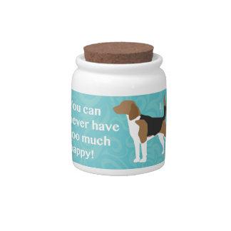 Demasiado feliz - beagle platos para caramelos
