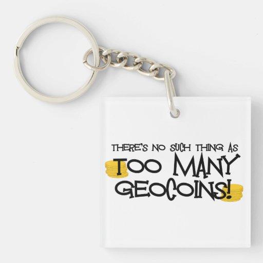 ¡Demasiado Geocoins?! Llavero de Geocaching