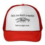 Demasiado gorra chistoso del camionero de Cajun de