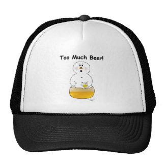 Demasiado gorra de la cerveza