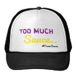 Demasiado gorra del camionero de la salsa