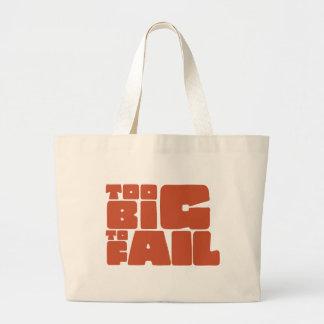 Demasiado grande fallar bolsa tela grande