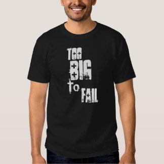 Demasiado grande fallar camisas