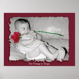 Demasiado joven al tango - impresión póster