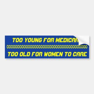 Demasiado joven para Seguro de enfermedad, demasia Pegatina Para Auto