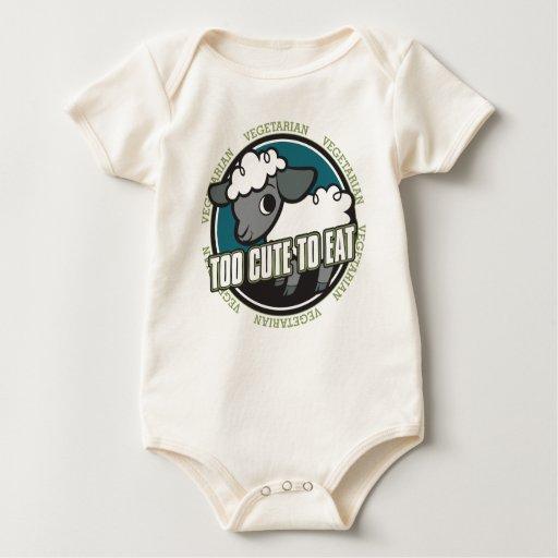 Demasiado lindo comer ovejas body para bebé