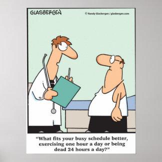 ¿Demasiado ocupado al ejercicio? Póster