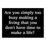 ¿Demasiado ocupado? Tarjeta del chisporroteo Tarjetas De Visita Grandes