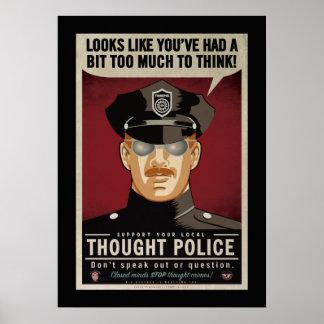 Demasiado para pensar el poster de la policía del póster