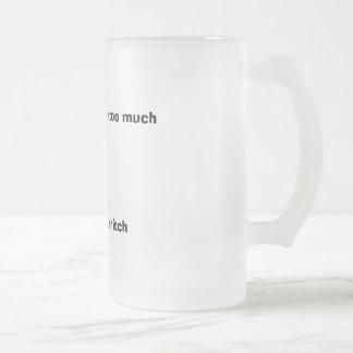 """""""….demasiado peso en el tirón"""" heló la taza"""