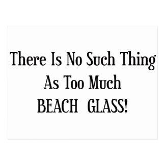 Demasiado vidrio de la playa tarjeta postal