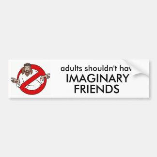 demasiado viejo para los amigos imaginarios pegatina para auto