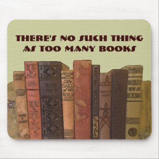 demasiados libros alfombrillas de ratones
