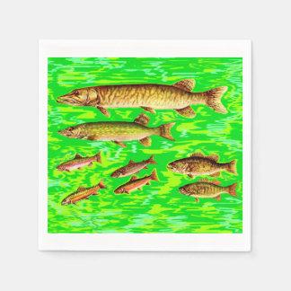 demasiados pescados en el mar servilletas de papel