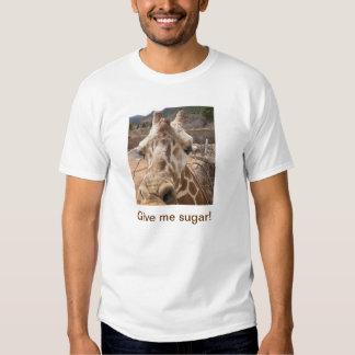¡Déme el azúcar! Camiseta de la jirafa Polera