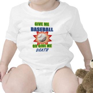 Déme el béisbol o déme la muerte trajes de bebé