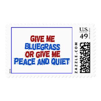 ¡Déme el Bluegrass, o déme la paz y la Sello Postal