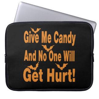 Déme el caramelo que nadie conseguirá lastimado funda portátil