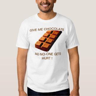 ¡DÉME EL CHOCOLATE!! REMERA