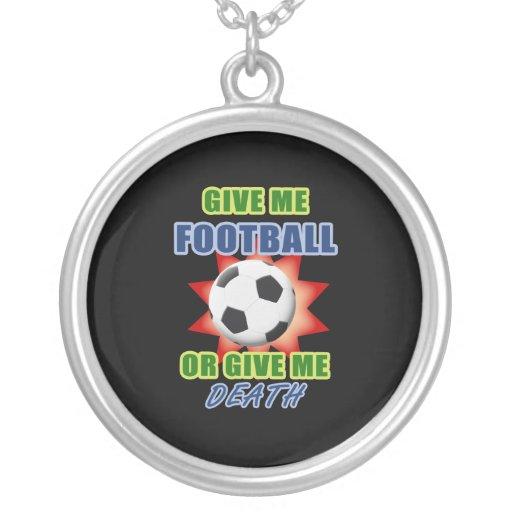 Déme el fútbol o déme la muerte collares personalizados