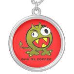 Déme el humor del extranjero del café colgantes