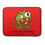 Déme el humor del extranjero del café fundas para macbook pro