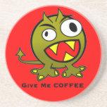 Déme el humor del extranjero del café posavasos diseño